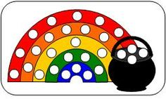 M&M sorting mat for Rainbow Theme.  You can learn more about them at Making Learning Fun.