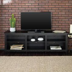 online shopping for Home Accent Furnishings New 70 Inch Wide Black Television Stand from top store. See new offer for Home Accent Furnishings New 70 Inch Wide Black Television Stand 70 Inch Tv Stand, Black Tv Stand, Farmhouse Tv Stand, Organizing Wires, Television Stands, Flat Panel Tv, Sofa Set, Entertainment Center, Adjustable Shelving