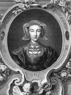 Etching of Anne of Cleves