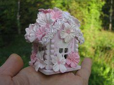 Купить Миниатюра Розовый домик, кукольная миниатюра, кукольный домик - мини дом, мини домик