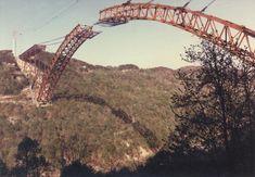 New River Gorge Bridge during construction