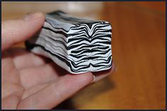 Zebra cane translated from Russian.  Quick and easy cane. #Polymer #Clay #Tutorials