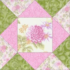 Pink Lilac Garden Pre-Cut Quilt Blocks Kit