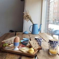 Nordisk Brødhus - Nordic Breadhouse. A small organic bakery in central Copenhagen who not only bake the most wonderful sourdough bread in their wood fired oven, but who also serves a breakfast that is to die for!  https://www.facebook.com/nordiskbrodhus