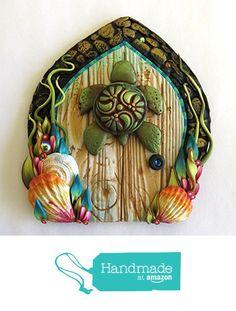 Sea Turtle Ocean Fairy Door, Seaside Tooth Fairy Door, Handmade One of A Kind Door from claybykim http://www.amazon.com/dp/B01C1XGKNE/ref=hnd_sw_r_pi_dp_SRHYwb1JD0021 #handmadeatamazon