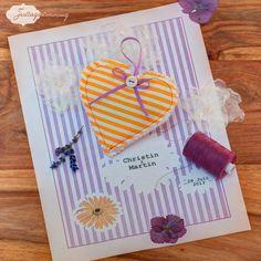 #Lavendelherz als #Gastgeschenk für die #Hochzeit von Festtagsstimmung