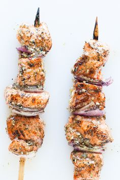 Epicure Oh Canada Salmon Kebabs calories/serving) Salmon Recipes, Fish Recipes, Seafood Recipes, Great Recipes, Favorite Recipes, Nutritious Snacks, Quick Healthy Meals, Healthy Recipes, Epicure Recipes