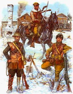 Tropas estadounidenses durante la guerra civil rusa. Más en www.elgrancapitan.org/foro