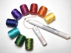 C-Lon Tex 400 Bead Cord and SuperMax Thread Burner Macrame Thread, Micro Macrame, Mala Bracelet Diy, Bead Crochet, Cord, Fiber, Jewels, Beads, Handmade