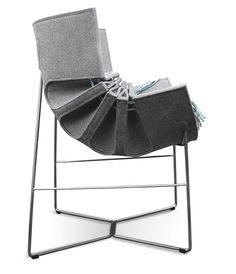 The Bufa Chair by MOWO Studio lounge chair. reception use. made from metal and material. anyone could use this chair.