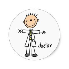 Doctor Stick Figure Sticker
