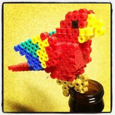 3D Parrot perler beads by k0k0bear
