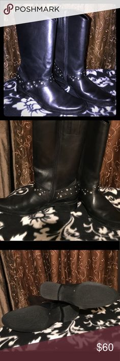Matisse Black Leather Studded Boots Made in Brazil Matisse Black Leather Studded Boots, Made in Brazil// Size 7 Matisse Shoes Ankle Boots & Booties