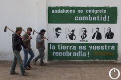 Nuevo desalojo en Somonte, Sindicato Andaluz de Trabajador@s, SAT, Andalucía, Jornaleros, Óscar Reina, Córdoba, patrimonio agrario público