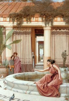 Learn more about Innocent Amusements John William Godward - oil artwork, painted by one of the most celebrated masters in the history of art. John William Godward, Lawrence Alma Tadema, Classical Greece, Classical Art, Ancient Rome, Ancient Greece, Roman History, Art History, Rome Antique