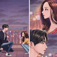 Anime Love Couple, Couple Art, Book Aesthetic, Aesthetic Photo, Real Beauty, True Beauty, Suho, Heirs Korean Drama, Chibi