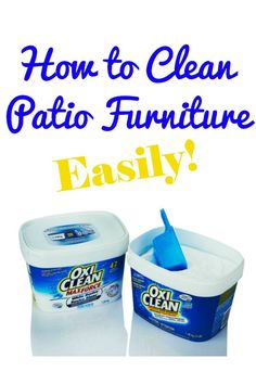 How to Clean Patio Furniture - super easy way to get your furniture looking fabulous for summer!