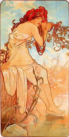 Verano, Alfons Mucha