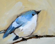 "Angela Moulton; Painting ""cerulean warbler"" #art"