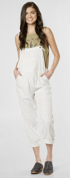 381716cdbc6 Neutral Overalls   Amuse Society Overall Feeling Good Overalls