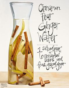 water recipes Cinnamon Pear Ginger infused water is a great way to boost your metabolism with a Fall twist!Cinnamon Pear Ginger infused water is a great way to boost your metabolism with a Fall twist! Infused Water Recipes, Fruit Infused Water, Juice Recipes, Cleanse Recipes, Infused Waters, Flavored Waters, Drink Recipes, Pear Ginger Recipes, Ginger Infused Water Recipe