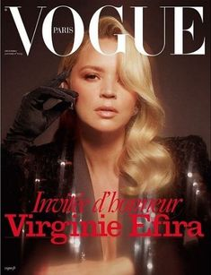 Actress Virginie Efira lands the cover of Vogue Paris' December 2019 January 2020 edition captured by fashion photographer Mikael Jansson. Vogue Magazine Covers, Vogue Covers, Emmanuelle Alt, Vogue Japan, Vogue Russia, Vogue Paris, Paris December, January, Fashion Bible