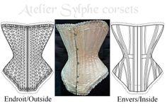 Ref k patronage edwardien corset ancien début xxeme - patron couture - Atelier Sylphe Corsets - Fait Maison