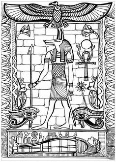 Justcolor egypte 5 Ancient Egyptian Religion, Egyptian Symbols, Egyptian Art, Ancient Egypt Pictures, Ancient Egypt For Kids, Anubis, Egypt Cat, Egypt Concept Art, Egyptian Drawings