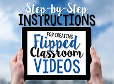 I've been utilizing a Flipped Classroom for my math instruction for the last three years.  Check out my instructions for making your own flipped classroom videos.