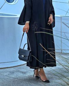 Repost with ・・・ Time doesn't change, time reveals 🖤 . New Abaya Design, Abaya Designs, Pakistani Dress Design, Dubai Fashion, Abaya Fashion, Modest Fashion, Fashion Outfits, Fashion Shoot, Women's Fashion