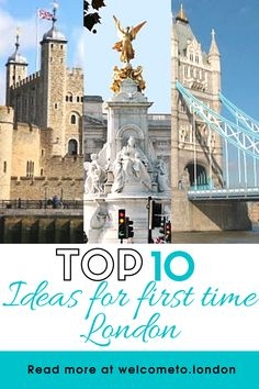Make planning your first trip to London easy with our list of top ten ideas for the best things to do and best places to visit. London Market, London Tours, London Travel, London Attractions, London Landmarks, Beautiful Places To Visit, Cool Places To Visit, Visit England, Things To Do In London