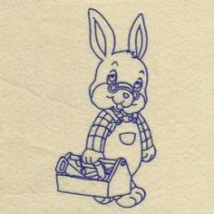 "This free embroidery design is the ""Easter Bunny""."