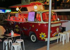 Sukhumvit Road Bangkok - the hippie bus