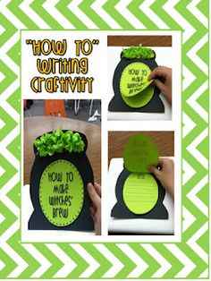 """Halloween """"How To"""" writing & craftivity from Witches Brew mini unit! This would be so cute to match to a book and work on creative writing Teaching Activities, Teaching Writing, Classroom Activities, Classroom Ideas, Teaching Ideas, Second Grade Writing, Procedural Writing, Creative Writing Ideas, Writer Workshop"""