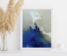 Foot Loose | Mariëtte Kotzé  |  Blue & White Abstract | Giclée print | Limited Edition of 10 White Ink, Blue And White, Micro Photography, Colorful Clouds, Ink Wash, Giclee Print, Fine Art Prints, Tapestry, In This Moment