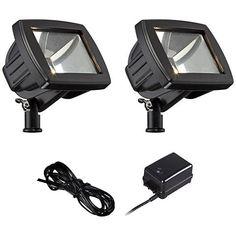 LED Flood Light Landscape Kit in Black