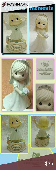 "Precious Moments Figurines Precious Moments ""You Make A Beautiful Bride"" Figurine. New without box. Bisque porcelain Measures approx. 5"" high x 3 1/4"" long x 3 1/2"" deep 2005 - ""BATHED IN THE LOVE OF THE LORD"" Baptism figurine.  Great/Good Condition. Precious Moments  Other"