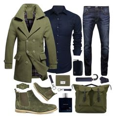 """""""✔️olive green and denim✔️"""" by sanela-enter ❤ liked on Polyvore featuring Steve Madden, Jack & Jones, Original Penguin, Ally Capellino, Profile, Lacoste, Diesel, MANGO, Tod's and Dsquared2"""