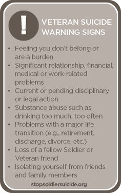 Know the signs of #suicide. Seek help, don't suffer. #AllyResearch #VeteransLivesMatter