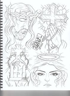 Tattoo Design Drawings, Tattoo Sketches, Tattoo Designs Men, Chest Tattoo Stencils, Religious Tattoos For Men, Egyptian Drawings, Heaven Tattoos, Chicano Drawings, Skull Girl Tattoo