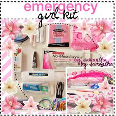 """""""Emergency girl kit"""" by tips-for-real-girlss on Polyvore"""