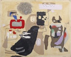 Willi Baumeister (1889-1955) Fra Diavolo signed `Baumeister 7. 51' (lower right) oil on canvas 65 x 81 cm. Painted in 1951