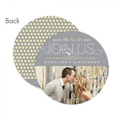 "Circular ""Save the Date"" Wedding Invites - Very Out of the Box. Love it!"