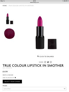 Out of the purple lip colours Sleek has to offer I think this is nicest.