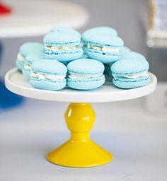 Aniken's Birthday party Macarons by Sweet Bloom Cakes Silver Winter Wedding, Blue Wedding, Sandwiches, New Cake, Inspiration For Kids, Candy Buffet, Macaroons, Wedding Colors, Wedding Ideas