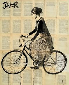 "Saatchi Online Artist Loui Jover; Drawing, ""violets way"" #art"