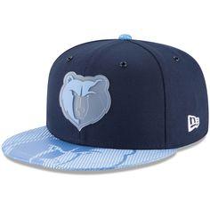 c912b6f79ea24 Men s Memphis Grizzlies New Era Navy Team Color On-Court 9FIFTY Snapback  Adjustable Hat