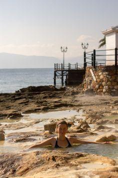 Fantastic Edipsos hot springs in January, Evia, Greece