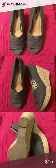 Soda Espadrilles Nice pair of brown linen espadrilles. Excellent condition with little to no signs of wear on outer shoe. Soda Shoes Espadrilles