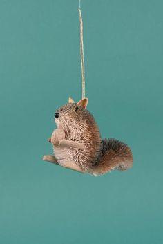 Buri Squirrel Decoration with Twig Feet